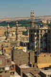 Oude cityscape van Kaïro stock foto's