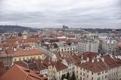 Oude cityscape van Praag stock fotografie