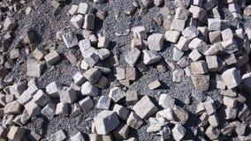 Oude cobble steen - achtergrond Stock Afbeeldingen