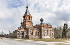 Oude cobble steenkapel in Kohila, Estland stock foto's