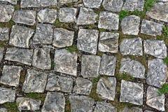 Oude Cobble Stenen stock afbeelding