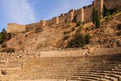Oude Coloseum in Malaga Stock Foto's