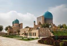 Oude complexe Dorut Tilavat, Shakhrisabz, Oezbekistan Stock Foto