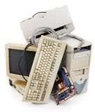 Oude computer Royalty-vrije Stock Afbeeldingen