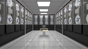 Oude computer in een uitstekende hardwareruimte Royalty-vrije Stock Fotografie