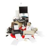 Oude computer en elektronisch afval stock fotografie