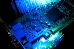 Oude computer videocard Stock Afbeeldingen