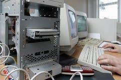 Oude computers Royalty-vrije Stock Afbeeldingen
