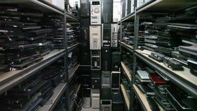 Oude Computers wijd stock videobeelden