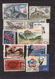Oude comunistzegel Royalty-vrije Stock Foto's