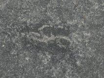 Oude concrete bestrating Royalty-vrije Stock Fotografie