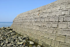 Oude concrete blokken Royalty-vrije Stock Afbeelding