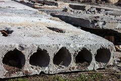 Oude concrete blokken Stock Fotografie