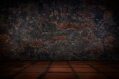 Oude concrete muur en vloertegels Stock Afbeeldingen