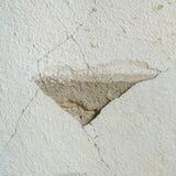 Oude concrete muur met gebarsten Royalty-vrije Stock Afbeelding