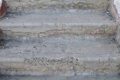 Oude concrete stappen Royalty-vrije Stock Afbeeldingen