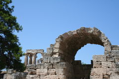 Oude corinth Stock Foto's