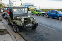 Oude Cubaanse auto Royalty-vrije Stock Afbeelding