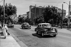 Oude Cubaanse auto Stock Afbeeldingen
