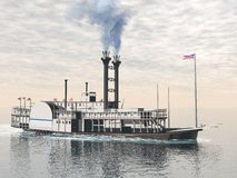 Oude 3D riverboat - geef terug Royalty-vrije Stock Foto's