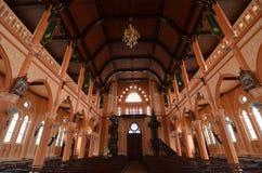 Oude dag Katholieke Kerk in Thailand stock foto's