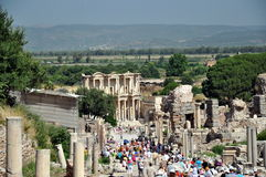 Oude dagen in Efes Stock Afbeeldingen