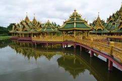 Oude dagkasteel in Thailand royalty-vrije stock fotografie