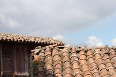 Oude dakbovenkant Royalty-vrije Stock Afbeelding