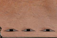 Oude dakbovenkanten Royalty-vrije Stock Fotografie
