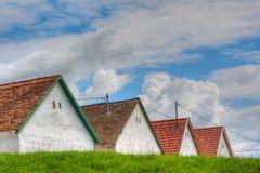 Oude daken Royalty-vrije Stock Afbeelding