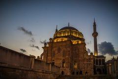 Oude daken van moskee, Istanboel Royalty-vrije Stock Fotografie