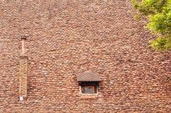 Oude daktegels Stock Afbeeldingen