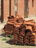 Oude daktegels Stock Foto's