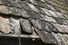 Oude daktegels Stock Foto