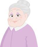 Oude dame Royalty-vrije Stock Foto