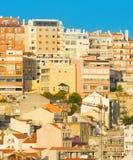 Oude de architectuurachtergrond Portugal van Lissabon stock foto's