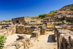 Oude de bouw ruïnes in Kamiros Stock Foto's