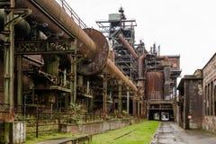 Oude de industriegebouwen in Landschaftspark Duisburg Royalty-vrije Stock Fotografie