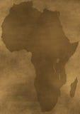 Oude de kaartillustratie van grungeAfrika Stock Foto
