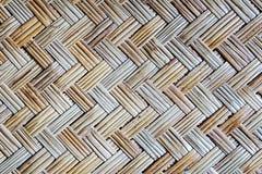 Oude de mattextuur van het bamboeweefsel Stock Afbeelding