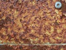 Oude de roesttextuur/achtergrond van het metaalijzer Royalty-vrije Stock Foto