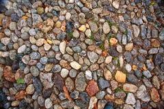 Oude de rotsachtergrond van de steenweg Stock Fotografie