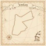 Oude de schatkaart van Jordanië Royalty-vrije Stock Afbeelding