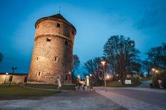 Oude de Stads Middeleeuwse torens van Tallinn Royalty-vrije Stock Foto