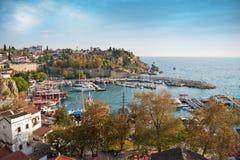 Oude de stadshaven van Antalya Stock Afbeeldingen