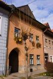 Oude de stadsherenhuizen van Levoca royalty-vrije stock afbeeldingen