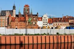Oude de Stadshorizon van Gdansk Stock Afbeeldingen