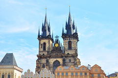 Oude de Stadskerk van Praag, Tsjechische Republiek Stock Afbeeldingen