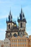 Oude de Stadskerk van Praag, Tsjechische Republiek Royalty-vrije Stock Foto's