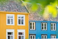Oude de stadsmening van Trondheim Noorwegen, Scandinavië, Europa Stock Afbeeldingen